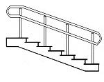 Лестничное ограждение из нержавеющей стали для инвалидов